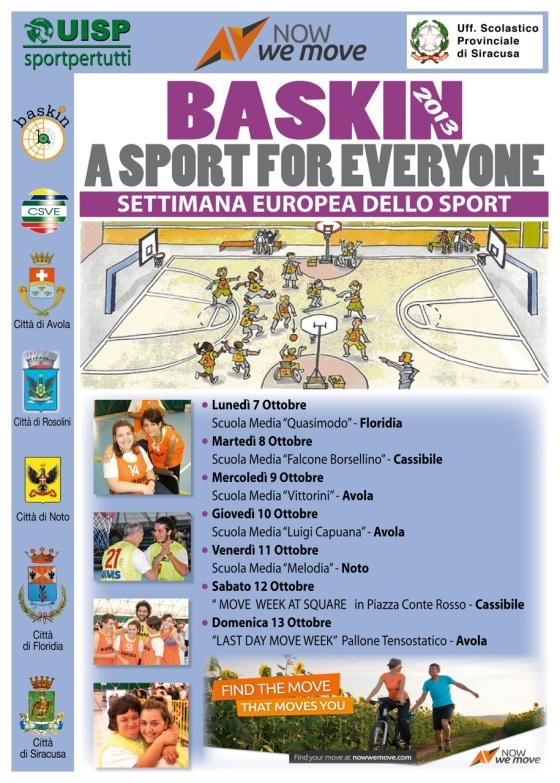 Baskin settimana europea   sport