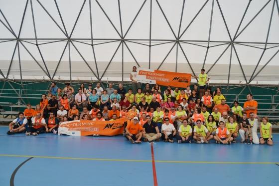 Festa del Baskin foto di gruppo    atleti organizzatori e  sindaco Cannata ieri al tensostatico