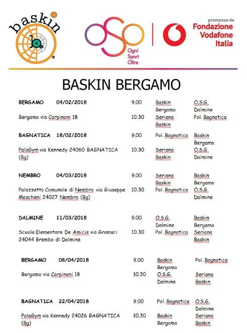 calendario baskin bergamo
