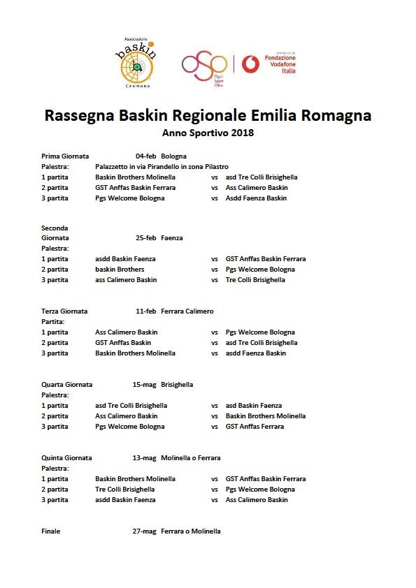 calendario rassegna emilia romagna